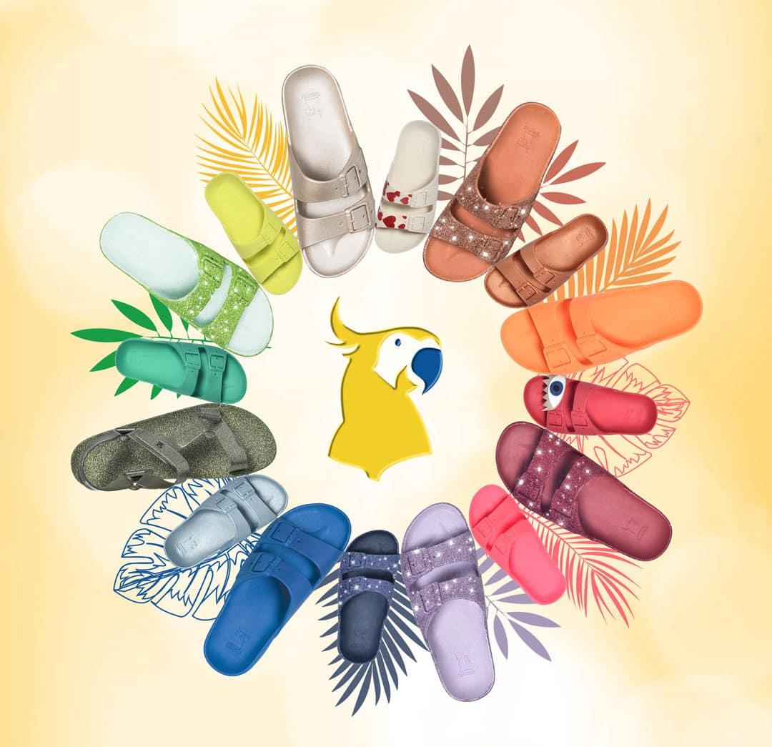 Cacatoès, la sandale vegan parfumée au bubble gum